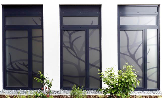 Fenstergestaltung Raum der Stille Erzhausen