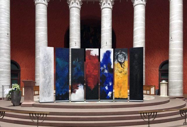 Ausstellungsansicht St. Ludwig Kirche - Darmstadt Les Corps glorieux