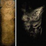 "1470_71 ""ad pectus"" - Öl auf Acryl / Öl auf Goldgrund auf Leinwand - Gesamtformat 95 x 95 cm"