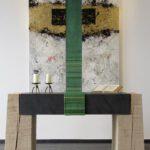 Ev. Kirche Hallenberg - Parament grün und Altar -