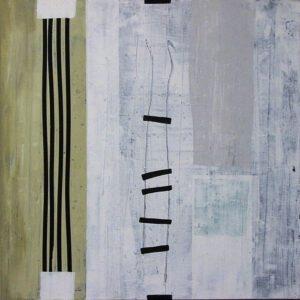 """Werk Nr. 1236 """"Kyrie"""" 140 x 140 cm, Acryl auf Leinwand, 2004"""