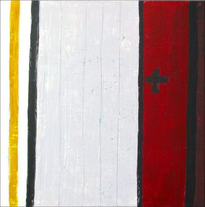 "Werk Nr. 1240 ""Benedictus"", 140 x 140 cm, Acryl auf Leinwand, 2004"