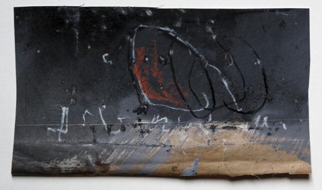 Werk Nr. 1536 - Gouache auf Papier ca. 30 cm breit, 2015