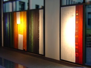 Septime I - II - III - IV Ausstellungsansicht - Ausstellungsansicht - Ausstellungsansicht - Höhe jeweils 220 cm - Breiten unterschiedlich