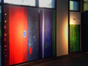 Septime V - VI - VII Ausstellungsansicht -Ausstellungsansicht - Höhe jeweils 220 cm - Breiten unterschiedlich