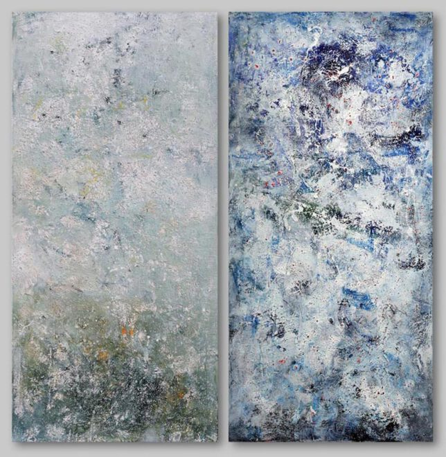 le banquet celeste - Acryl auf Leinwand - je 250 x 120 cm - aus der Reihe Hommage á Messiaen