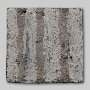 Werk Nr. 1624 - Acryl und Asche auf Bauplatte - 25 x 25 cm - 2019