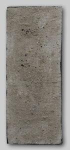 Werk Nr. 1625 - Acryl und Asche auf Bauplatte - 44,5 x 18 cm - 2019