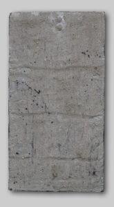 Werk Nr. 1626 - Acryl und Asche auf Bauplatte - 47 x 25 cm - 2019