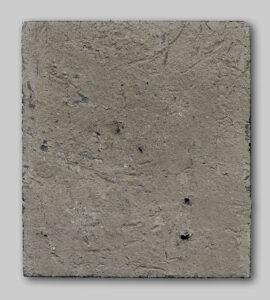 Werk Nr. 1627 - Acryl und Asche auf Bauplatte - 25 x 22 cm - 2019