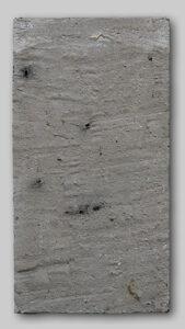 Werk Nr. 1628 - Acryl und Asche auf Bauplatte - 47 x 25 cm - 2019