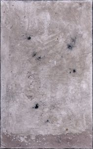 Werk Nr. 1631 - Aschevariation 3 - Asche und Acryl auf Leinwand - 95 x 60 cm - 2020/2021