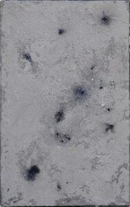 Werk Nr. 1634 - Aschevariation 6 - Asche und Acryl auf Leinwand - 95 x 60 cm - 2020/2021