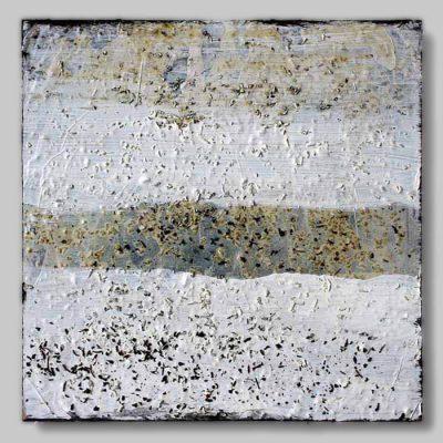 werk nr 1330 - Acryl und Tee auf Hartfaser - 20 x 20 cm - 2008