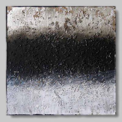 werk nr 1331 - Acryl, Blattgold und Tee auf Hartfaser - 13 x 13 cm - 2008